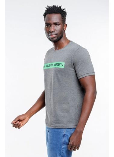 Slazenger Slazenger BATTLE Erkek T-Shirt Pudra Antrasit